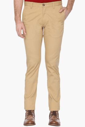 U.S. POLO ASSN. Mens Slim Fit Solid Trousers - 201262024