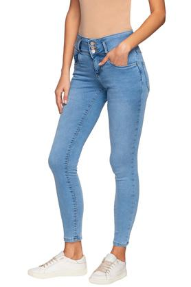 Womens 5 Pocket Mild Wash Jeans