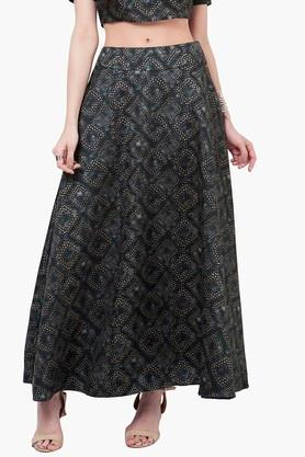 INDYA Womens Printed Maxi Skirt - 201845619