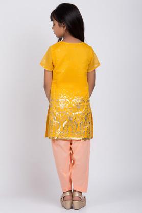 BIBA GIRLS - YellowSalwar Kurta Set - 1