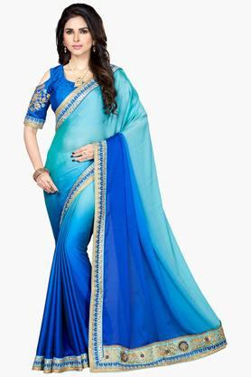 Women Designer Partywear Soft Silk Saree
