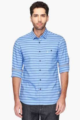Bay Island Formal Shirts (Men's) - Mens Slim Fit Stripe Shirt