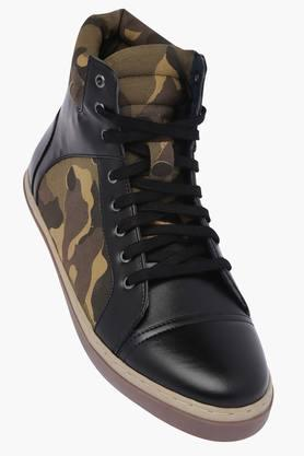 Mens Synthetic Leather Lace Up Boots