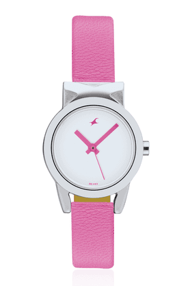 FASTRACK Ladies Watch With Pink Leather Strap - 6088SL01