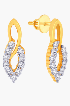 Womens 18 KT Gold and Diamond Earrings