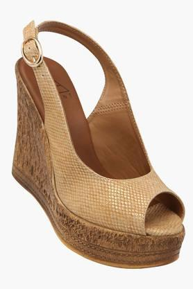 FEMINA FLAUNT Womens Casual Wear Buckle Closure Wedges