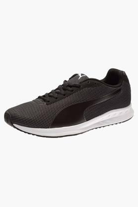 PUMA Mens Mesh Lace Up Running Shoes