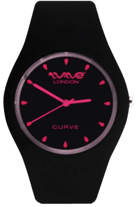 Curve Dark Grey & Pink Ladies Watch
