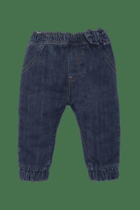 MOTHERCAREGirls Cotton Solid Jeans