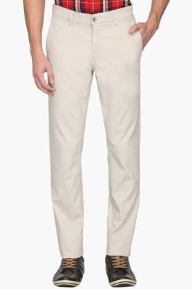ALLEN SOLLY Mens Slim Fit 5 Pocket Solid Chinos - 202104380