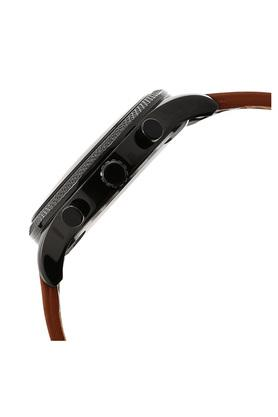 Mens Multi-Function Black Dial Leather Watch - NLC06232655