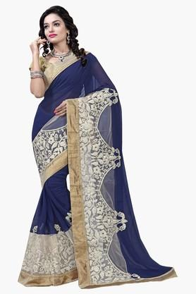 DEMARCA Womens Georgette And Net Designer Saree