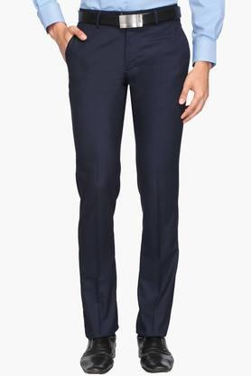 LOUIS PHILIPPEMens Slim Fit 4 Pocket Check Formal Trousers (Milano Fit)