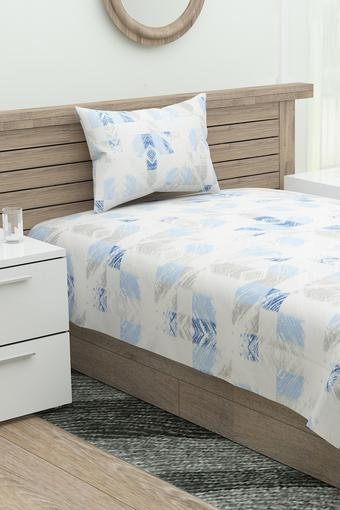 Bellezza Printed Single Bed Sheet with 1 Pillow Cover