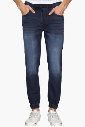U.S. POLO ASSN. DENIMMens 5 Pocket Jogger Fit Mild Wash Jeans