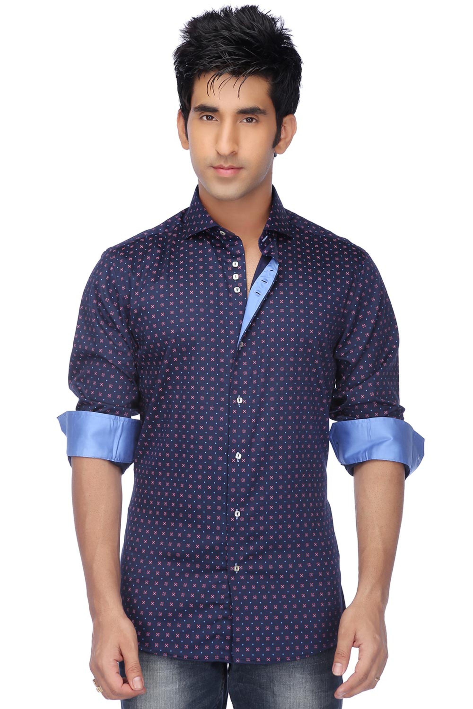 4c1ca8bc9 Zod-Mens Full Sleeves Slim Fit Casual Print Shirt | Shoppers Stop