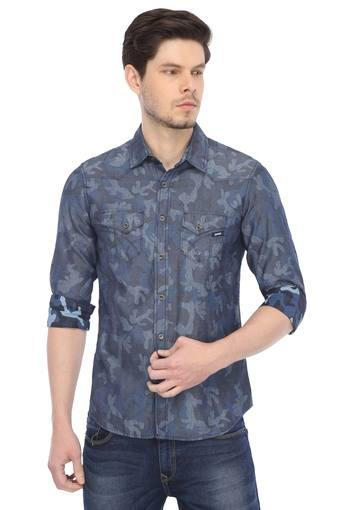 Mens 2 Pocket Printed Casual Shirt