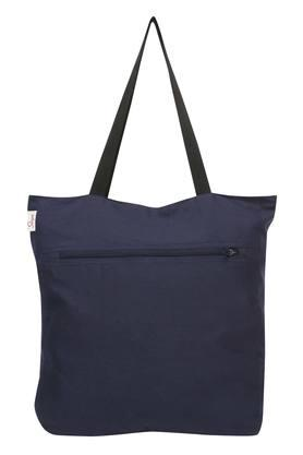 Marble Zip Closure Printed Shopping Bag