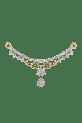 TARA JEWELLERSWomens 18 Karat Gold And Diamond Mangalsutra Pendant - 200944707_9999