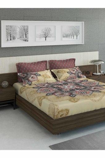 D'DECOR -  RedSingle Bed Sheets - Main