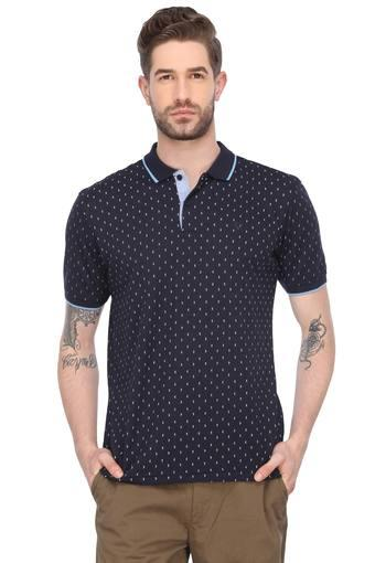 ALLEN SOLLY -  NavyT-shirts - Main