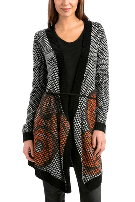 DESIGUAL Womens Printed Waterfall Shrug