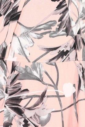 Womens Key Hole Neck Floral Printed Maxi Dress