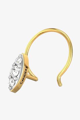 VELVETCASEWomens 18 Karat Yellow Gold Nose Ring (Free Diamond Pendant) - 201065081
