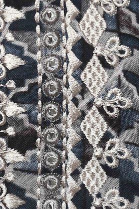 Womens Mandarin Collar Printed Embroidered Kurti