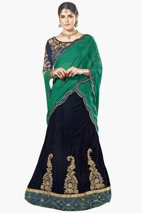 MAHOTSAV Womens Embellished Semi-stitched Lehenga Choli - 201643957