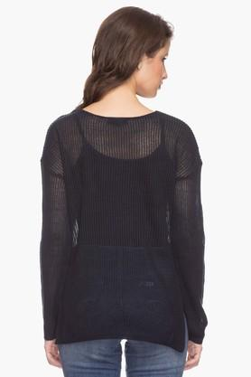 Womens Solid Knitted Top