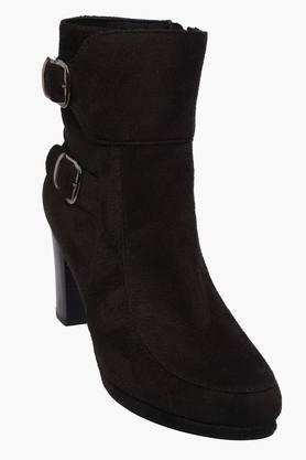 LEMON & PEPPERWomens Suede Zipper Closure High Top Boots