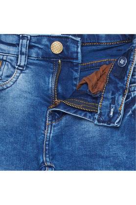 Boys Slim Fit Acid Wash Jeans