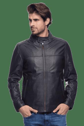 Mens Full Sleeves Slim Fit Solid Jacket