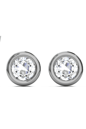 SPARKLES His & Her Collection 9 Kt Earrings In Gold And Real Diamond 0.11 Cts HHT6360-9KT