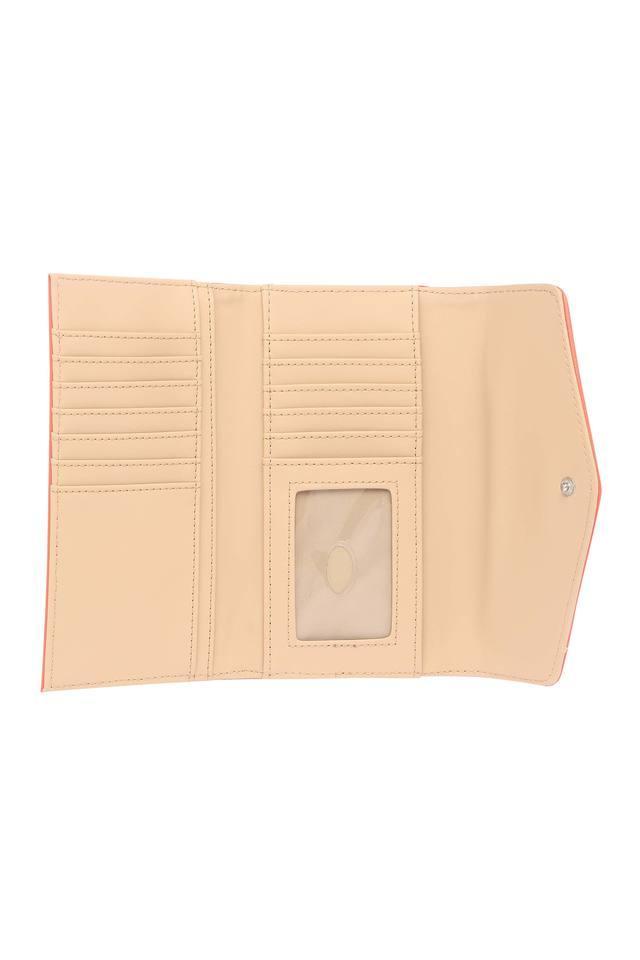 Womens Button Closure 2 Fold Wallet
