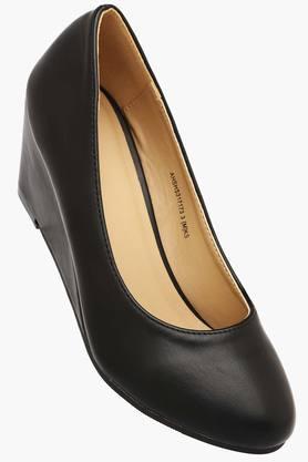 ALLEN SOLLY Womens Formal Wear Slip On Wedge Shoes