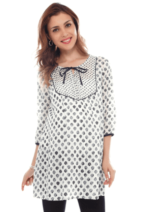 NINE MATERNITY Pretty Tunic In Printed Dobby