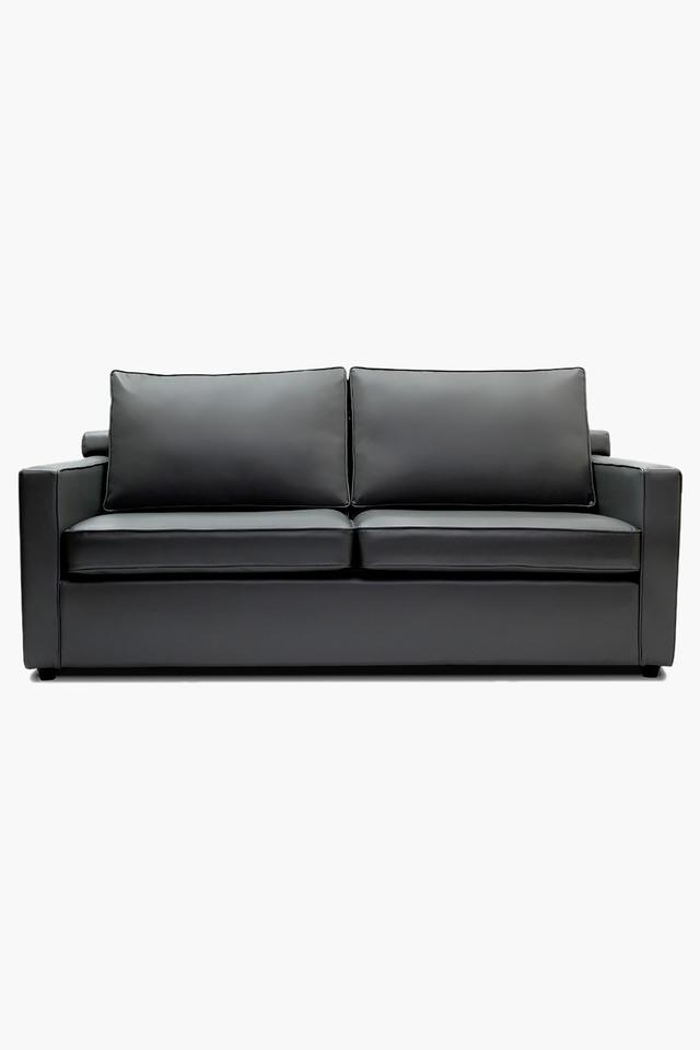 Misty Grey Leatherette Sofa (3 - Seater)