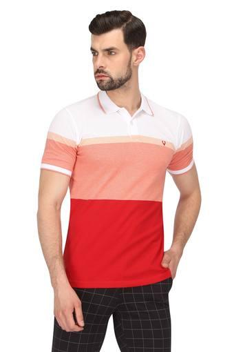 ALLEN SOLLY -  Red T-shirts - Main