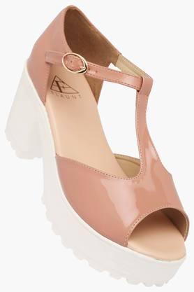 FEMINA FLAUNTWomens Daily Wear Ankle Buckle Closure Heel Sandal - 202124766