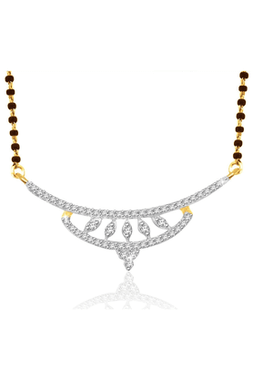 SPARKLES Gold Mangalsutra With Diamond Pendant Set N9405