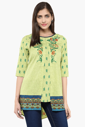 FUSION BEATS Womens Slim Fit Printed Tunic - 201553189