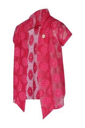 Girls Open Front Lace Shrug