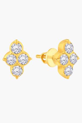 MALABAR GOLD AND DIAMONDSWomens 22 KT Gold And Diamond Earrings