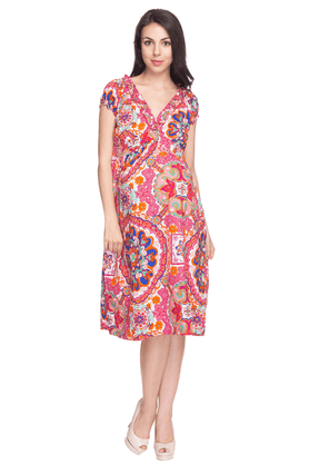 NINE MATERNITY Womens Comfort Fit Printed Dress