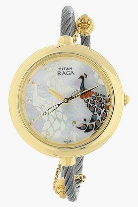TITANWomens Multicoloured Dial Metal Strap Watch