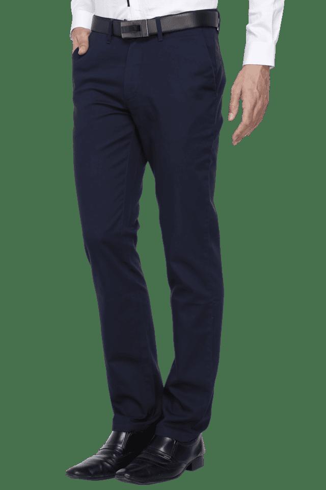 Mens Slim Fit Solid Formal Trouser