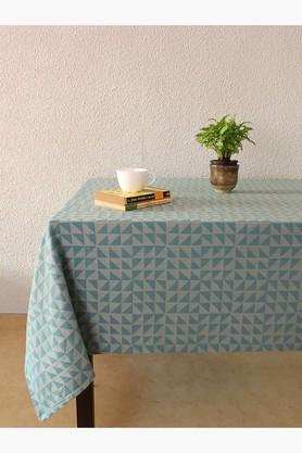 The Chaotic Triangles 100% Cotton Table Cover - Blue