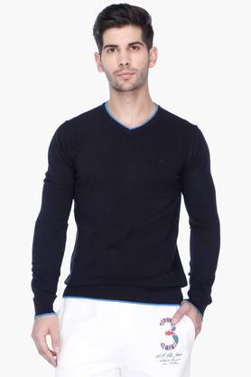 UNITED COLORS OF BENETTON Mens Regular Fit Slub Sweater - 201225840